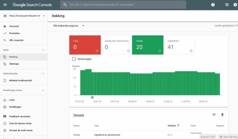 indexatie Google Search Console hoger in google | Bureau OpMerkzaam Utrecht